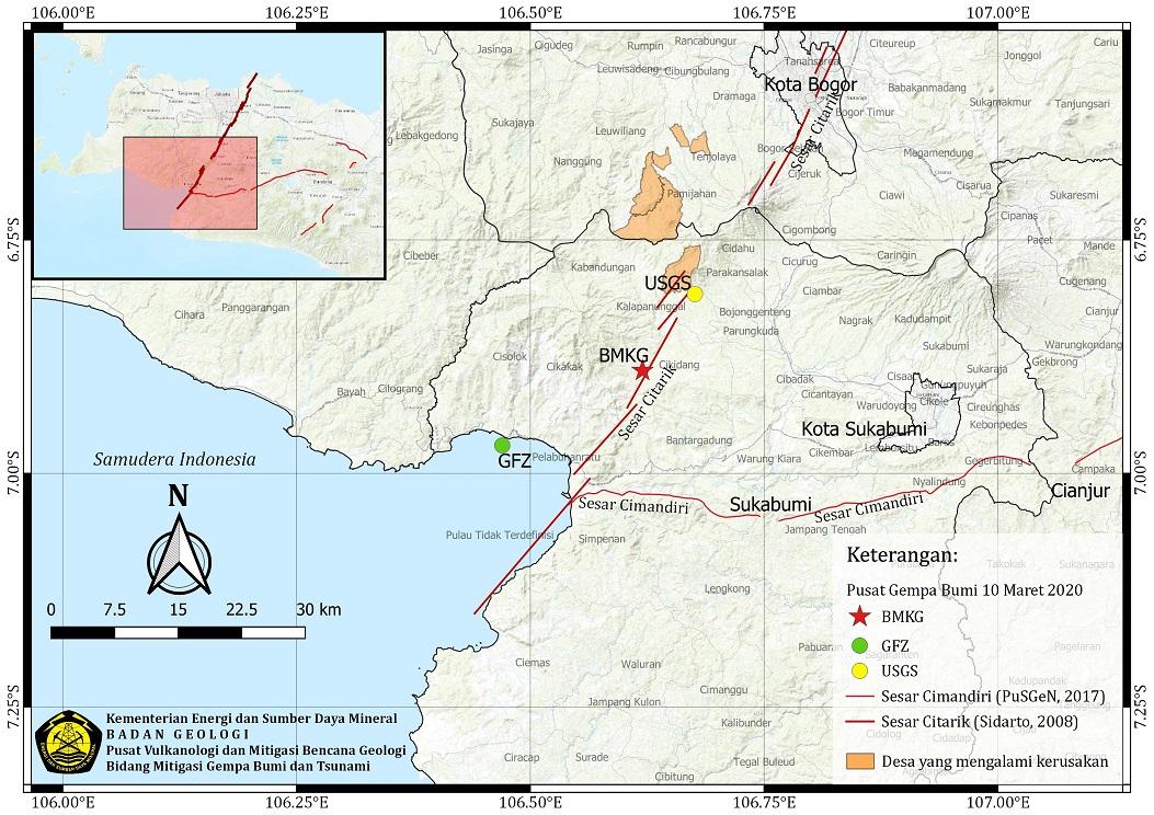 Kementerian Esdm Ri Media Center Arsip Berita Gempa Bumi Kalapanunggal Sukabumi Satu Bukti Aktivitas Sesar Citarik