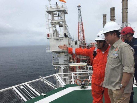 Working Visit of Minister of Energy and Mineral Resources to FPU Jangkrik, Muara Bakau Block
