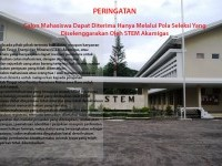 Warning for STEM Akamigas Student Candidates